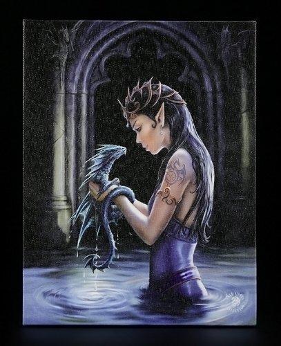 Kleine Leinwand - Water Dragon by Anne Stokes - Drachen Bild