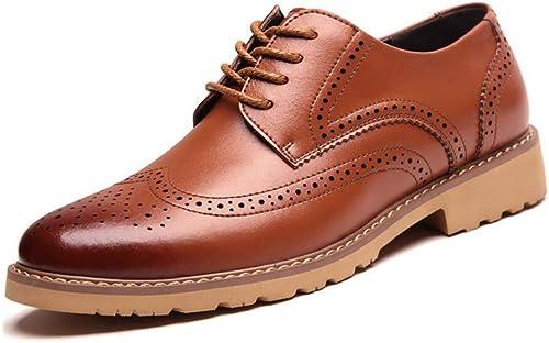 Herrenschuhe, 2018 Frühling Herbst Leder Comfort Business Schuhe, Lace up Formale Walking Schuhe für Casual, Perfekt für Einen Tag im Büro (Farbe   C, Größe   43)