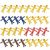 32 PCS Smiley Man Stretchy Toy Stress Relief Bouncy Emoji Fidget Toy Adorable Colorful Yellow Party Favors Supplies, Great for Themed Parties, School Prizes, Birthday Gifts