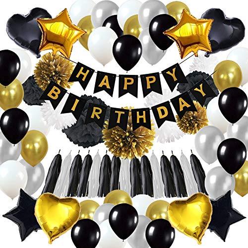 85Pcs Geburtstagsdeko, Geburtstag Dekoration, happy birthday girlande, 18. Geburtstag Dekorationen für Männer,Einschließlich