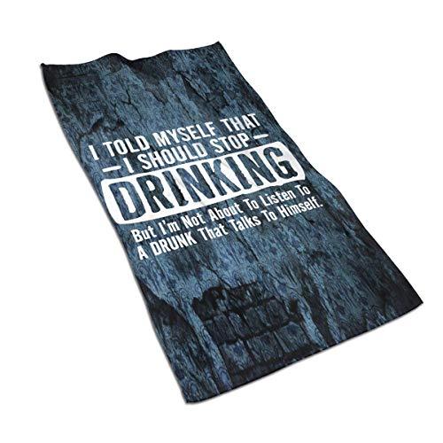 DHGER La Vida es rebelde Cuando estás Bebiendo una Toalla 27.515.7 en una Talla