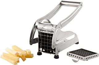 Other Potato & American Style Chip Slicer With 2-Interchangable Blades, H 12.0 x W 26.2 x D 9.6 cm, Stainless Steel