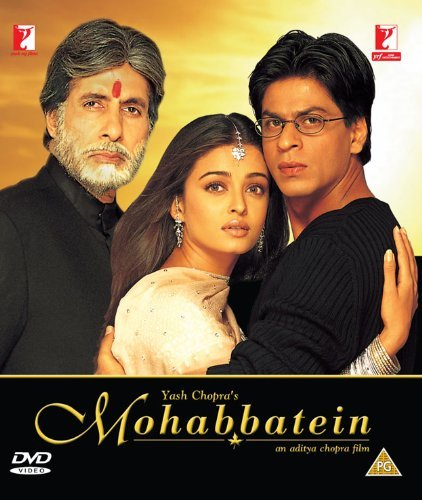 Mohabbatein Bollywood DVD With English Subtitles by Amitabh Bachchan