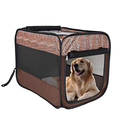 ZDJR Portable Pet Puppy Dog Cat Animal Playpen,Easily Sets Up & Folds Down & Space Free,The Best Indoor and Outdoor Pen. with Carry Bag