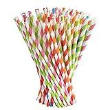 Vicloon 100pcs Cannucce Carta Colorate per Compleanno, Matrimoni, Natale,Docce Bambino, Celebrazioni e Feste - 5 Colori