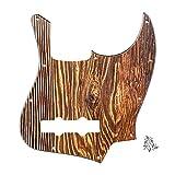 FLEOR 10 agujeros Jazz Bass Pickguard 3 capas Rascar Placa sin truss Rod Notch para bajo de jazz Fender Standard de 4 cuerdas, superficie de grano de madera, impresión UA