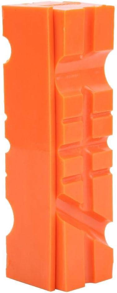 protector de tornillo de banco de caucho de TPU con dise/ño multiusos almohadilla protectora de tornillo de banco de retenci/ón magn/ética Mordazas de tornillo de banco universales 4.5 naranja