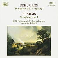 シューマン:交響曲第1番「春」/ブラームス:交響曲第1番(ベルギー放送フィル/ラハバリ)