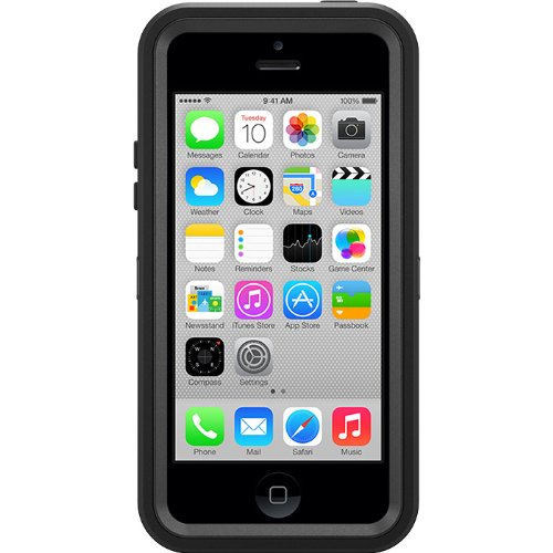 OtterBox Defender Series Case and Holster for iPhone 5c - Retail Packaging - Black