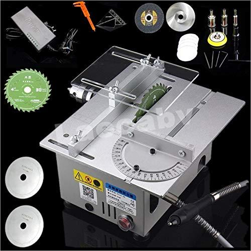 Tischsäge BladeRunner, Professional Tischkreissäge, DIY Mini Tischkreissäge, Kleine Tischsäge, Holzschnitzerei Modell Schneidemaschine 240 X 200 X 130mm (List 3, Slber)