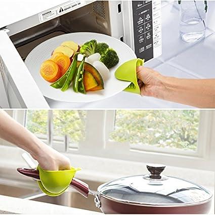 bleu 8.4 * 11cm Silicone 1pi/èce Coque en silicone r/ésistant /à la chaleur Gants de cuisine Manique cuisson cuisson barbecue