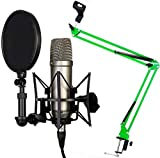 Rode NT1-A Juego condensador Micrófono Keepdrum 5-nb35gr verde brazo articulado trípode