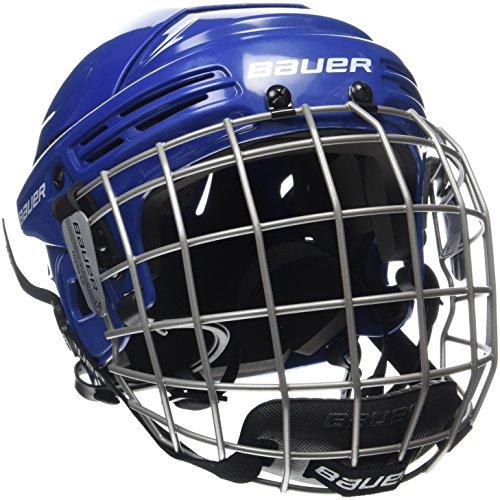 BAUER - Erwachsenen Eishockey Helm Combo mit Gitter 2100 Senior I Schutzhelm für Eishockeyspieler I inkl. Schutzgitter & Kinnschutz I robust & stabil I Eishockeyzubehör für Erwachsene