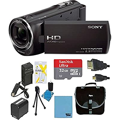 Sony HDRCX405 Handycam Camcorder Bundle with Micro SD Card, Battery and Accessories (10 Items) from Sony