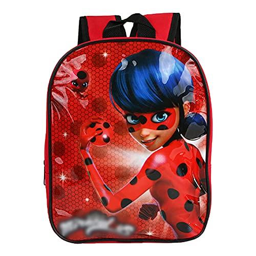 Hilloly Miraculous Ladybug Zaino, Zaino Scuola Bambino, Scuola Elementare Zaino, Zainetto da Viaggio Zaino Scuola Zaino Bambina
