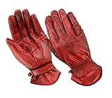 BOSmoto Motorrad Handschuhen Racing Kevlar gewachst Leder Handschuhe Wachs (XL, Wachs...