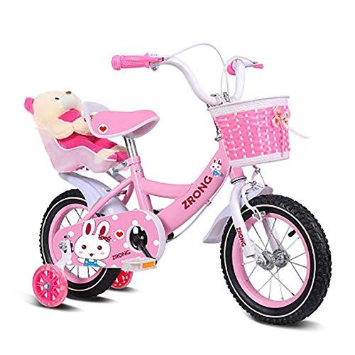 Sharesun Girl Bike Princess 30,5 cm 35,6 cm rem voor en achter, rem op het stuur, mand en bagagedrager, kinderfiets voor kinderen van 2 tot 6 jaar