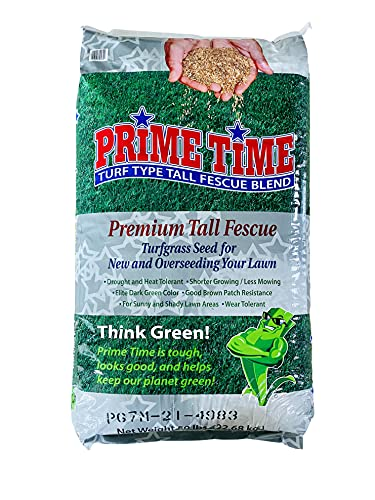 Burlingham Seeds Prime Time Tall Fescue Blend   100% Tall Fescue   Blue TAG Certified Grass Seed (50 lbs (5,000 sq ft))