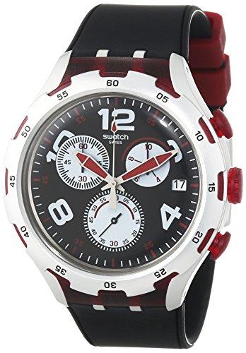 Swatch, orologio da polso da uomo, con cronografo al quarzo, in silicone, YYS4004