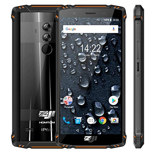 Brand Phones Smartphone HOMTOM Z9 Triple Proofing Phone, Dual 4G, 6GB + 64GB, IP68 Impermeabile Antiurto, Frequenza cardiaca, Batteria 5500mAh, Face ID e sblocco impronte digitali, 5.7 pollici Android