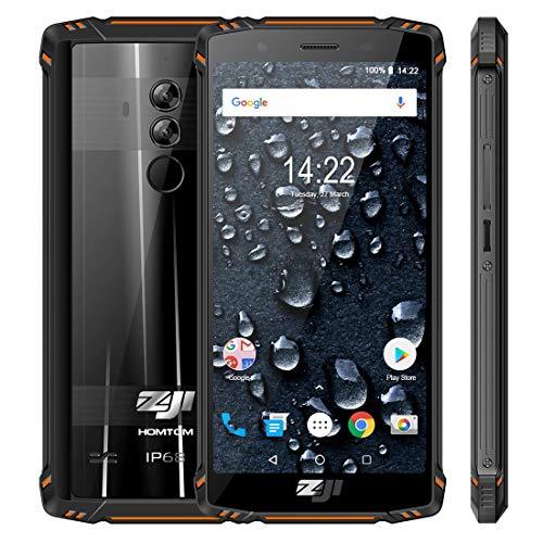 HOMTOM ZOJI Z9 6GB RAM+64GB ROM 4Gスマートフォン フェイスID & 指紋認識 5.7インチ Android 8.1 搭載 MTK6763 オクタコア 2.0GHz デュアルSIM (オレンジ)