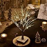 Hairui ブランチツリー LED イルミネーション 高さ45cm インテリア 卓上 ツリー 雪積もり 飾り 北欧 おしゃれ