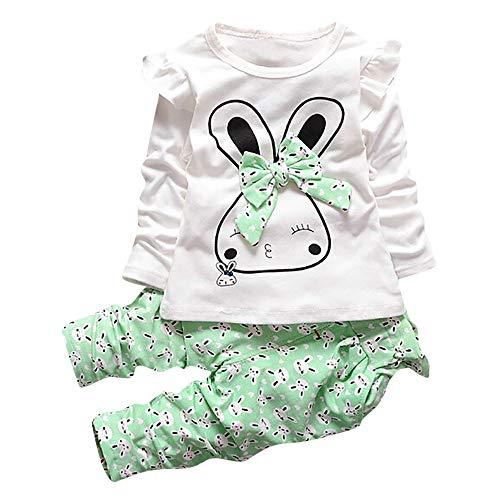 Ropa Bebé Recién Nacido, Camisas de Dibujos Animados Bunny Bebita Tops Blusa Camisetas Deporte bebé niña y Pantalones 2Pcs Conjunto de Ropa