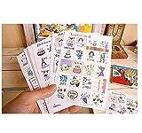 Hemore conjunto de 16 hojas/320pcs Deco Arte pegatinas diario papel pegatina Scrapbooking regalo