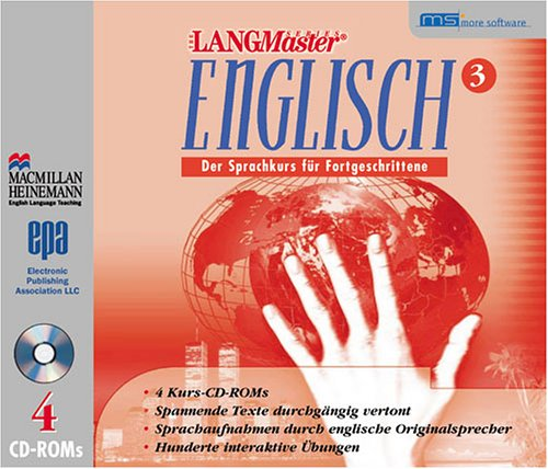 LANGmaster English, CD-ROMs, Tl.3 : Der Sprachkurs für Fortgeschrittene, 4 CD-ROMs