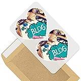 Impresionante pegatinas de corazón de 7,5 cm – Blog Blogger influencer Internet Fun calcomanías para portátiles, tabletas, equipaje, libros de chatarra, frigorífico, regalo genial #44340