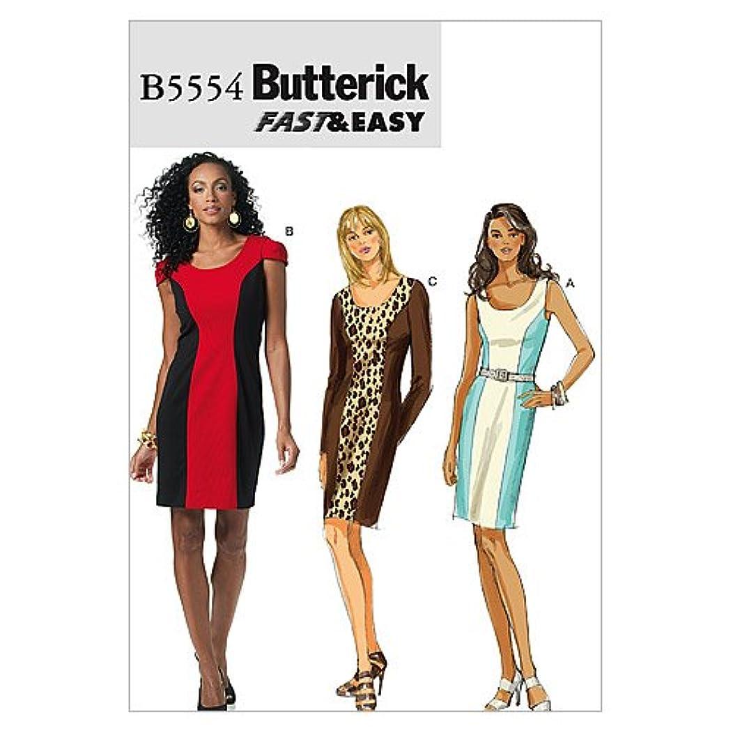BUTTERICK PATTERNS B5554 Misses'/Misses' Petite Dress, Size BB (8-10-12-14)