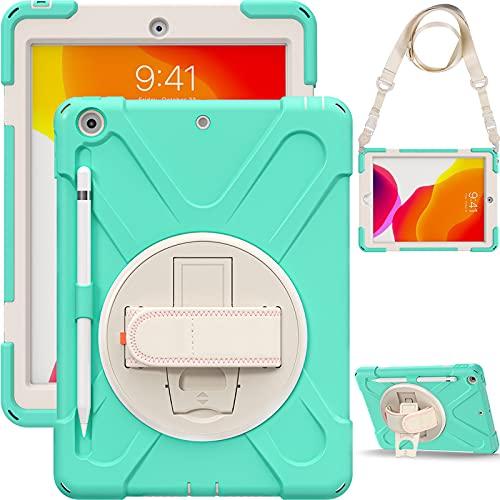 HHF Pad accesorios Para Samsung Galaxy S7 FE 12.4 T730 T735, Caja anti-gota de silicona multi-colores Correa de hombro Soporte giratorio Sombrero protector para la pestaña A7 2020 T500 / T505 TAB A7 L