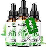 *NEU* GreeNature DietSlim Tropfen - 100% natürliche Inhaltsstoffe   schnell & einfach zur Einnahme   ohne Koffein   für Männer und Frauen (3 Stück)