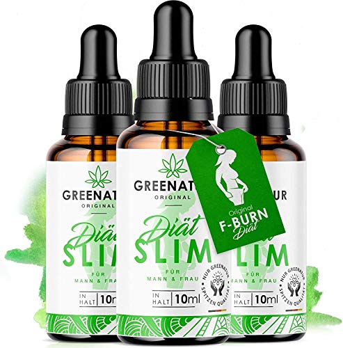 *NEU* GreeNature DietSlim Tropfen - 100% natürliche Inhaltsstoffe | schnell & einfach zur Einnahme | ohne Koffein | für Männer und Frauen (3 Stück)