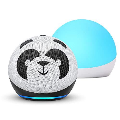 Echo Dot (4th Gen) Kids + Echo Glow | Panda