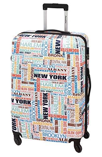 Koffer-Reise-Trolley-Reisekoffer-Hartschale-XL-Groß-77-Amerika-New York-Bowatex