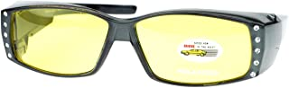 Womens Polarized Sunglasses that Fit Over your Prescription Glasses with Night Driving Lens