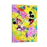 DRAGON VINES Mickey Y Min-nie Mouse Heart Art Canvas Impreso Ar Twork Decoración de Oficina 20 x 30 cm