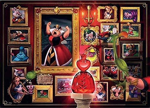 znwrr Jouet Villainous Queen of Hearts Jigsaw Puzzle 1000 pièces, pour Enfants Adultes Jigsaw Puzzles Intellectuels, Loisirs Loisirs Jeu Anti Stress 38X26Cm 38x26 cm