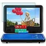 3枚 Sukix ブルーライトカット フィルム 、 DR.J Portable DVD Player 9.5インチ 向けの 液晶保護フィルム ブルーライトカットフィルム シート シール 保護フィルム(非 ガラスフィルム 強化ガラス ガラス ) 修繕版