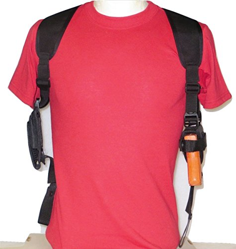 """Federal Shoulder Holster for Springfield XD 4"""" Barrel - 9mm, 40 or 45 Dbl Mag Pouch"""