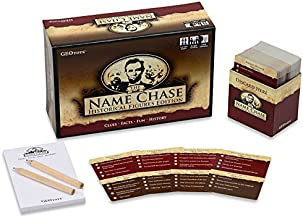GeoToys Name Chase Historical Figures - History Trivia Game and Kids Learning Game for Kids - Clue Game to Play for Points -Trivia for Kids and Curious Grownups Too!