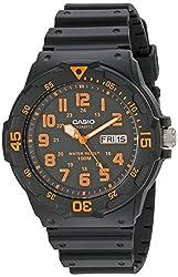 "powerful Casio Unisex MRW200H-4BV ""Neo Display"" Black Watch"