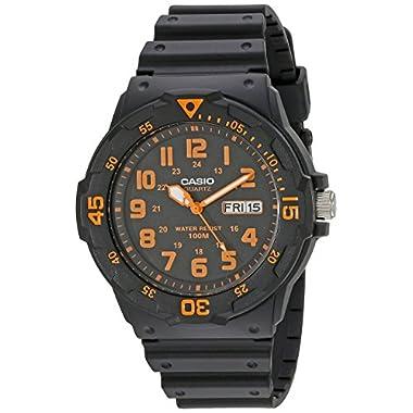 """Casio Unisex MRW200H-4BV """"""""Neo-Display"""""""" Black Watch"""