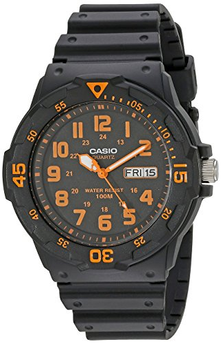 "Casio Unisex MRW200H-4BV """"Neo-Display"""" Black Watch"