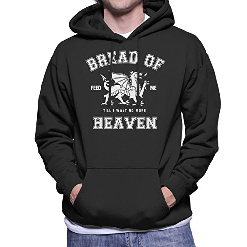 Rugby Welsh Hymn Bread of Heaven Dragon Men's Hooded Sweatshirt
