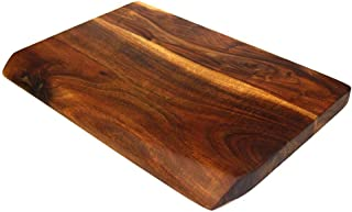 Mountain Woods Brown Hand Crafted LIVE EDGE Cutting Board/Serving Tray made w/Solid Acacia Hard Wood - 18