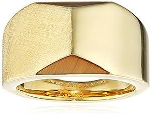 Baldessarini Herren-Ring 925 Silber gelb vergoldet Tigerauge goldbraun gestreift 58 (18.5) - Y2133R/90/D5/58