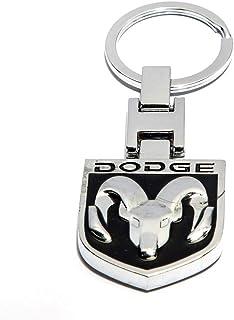 Car Keychain Model Dodge Logo - Black