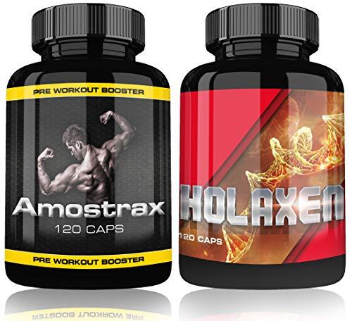 Holaxen und Amostrax 2 Dosen 240 Kapseln Booster Fitness Bodybuilding